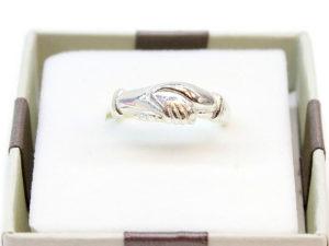 Fede nuziale Santa Rita argento liscia