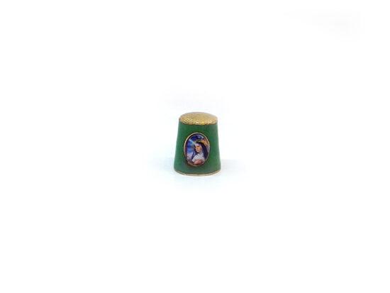 Ditale verde in Metallo