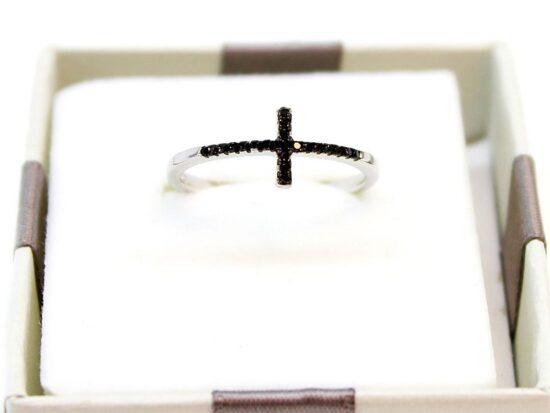 anello argento neri