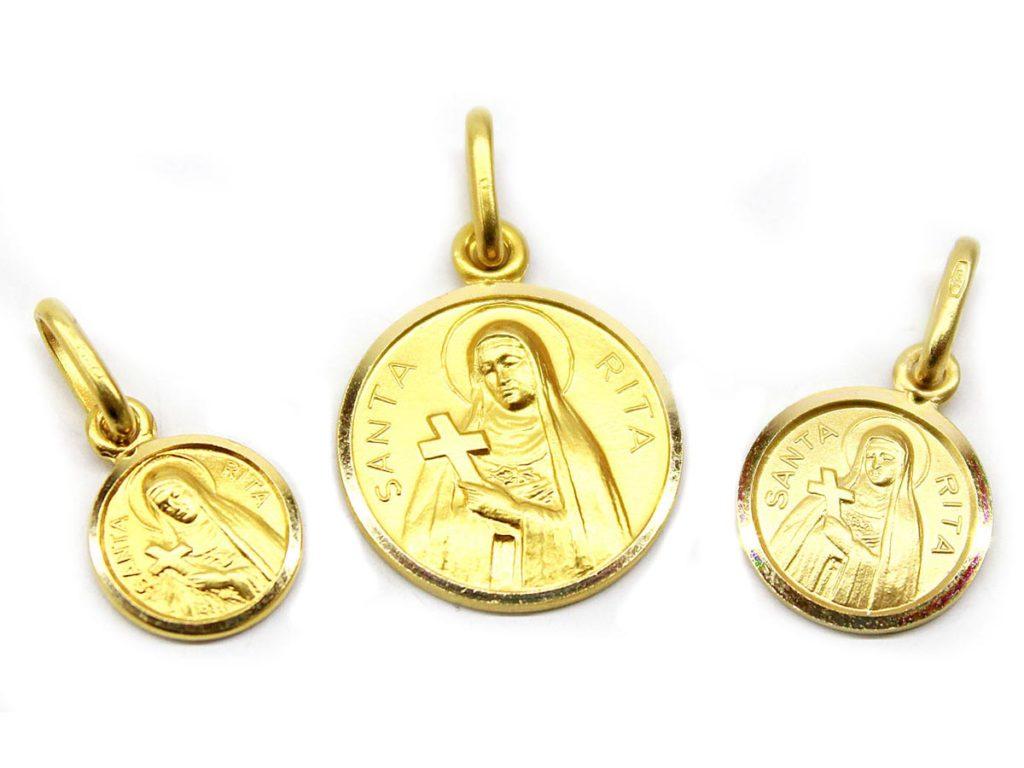 medaglia oro santa rita