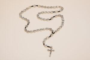 rosario in peltro di Santa Rita