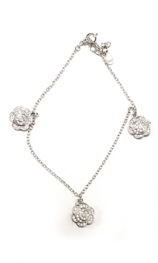bracciale in argento con rose