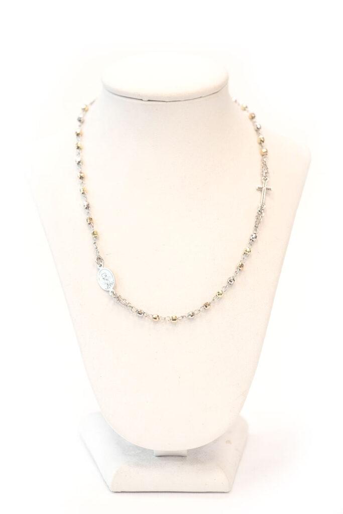 rosario da collo in argento 925